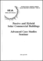 Passive and Hybrid Solar Commercial Buildings: Advanced Case Studies Seminar
